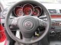 MAZDASPEED Gray/Black 2008 Mazda MAZDA3 MAZDASPEED Sport Steering Wheel
