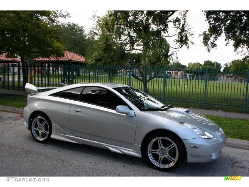 2001 Celica GT S   Liquid Silver / Black Photo #13