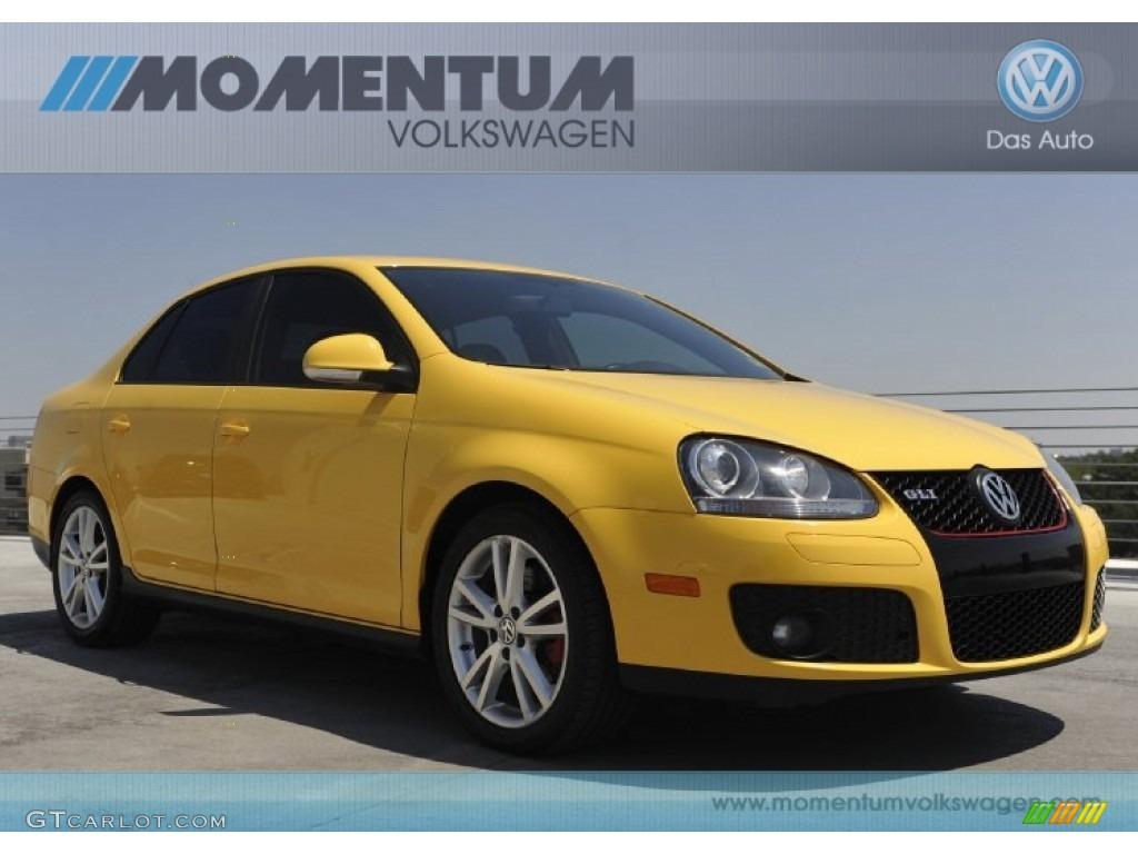 fahrenheit yellow volkswagen jetta gli fahrenheit edition sedan  gtcarlotcom