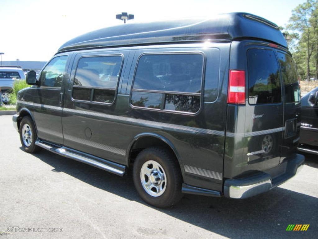 Dark Gray Metallic 2005 Chevrolet Express 1500 Penger Conversion Van Exterior Photo 53681825