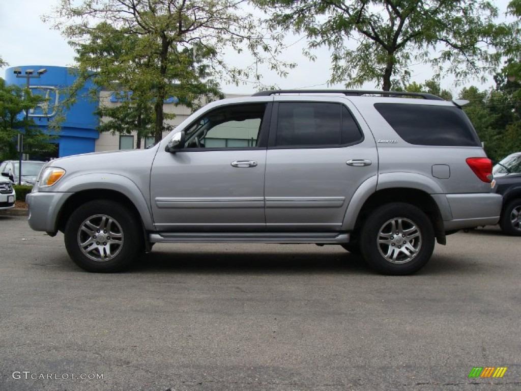 2007 Silver Sky Metallic Toyota Sequoia Limited 4wd 53673276 Photo 6 Car