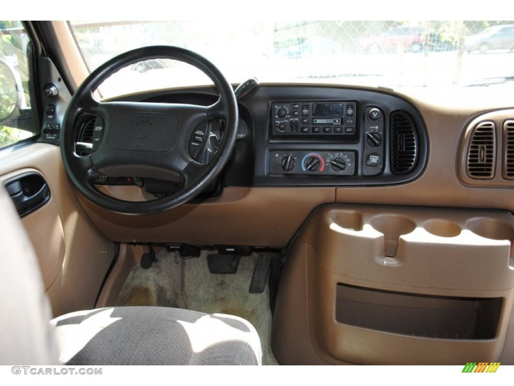 1999 Dodge Ram Van 1500 Penger Conversion Camel Tan Dashboard Photo 53700843