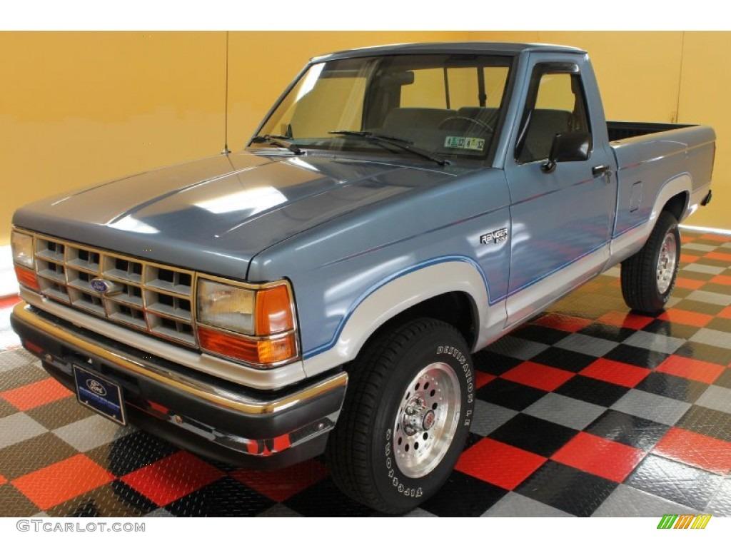 1990 ranger xlt regular cab light crystal blue metallic grey photo 2