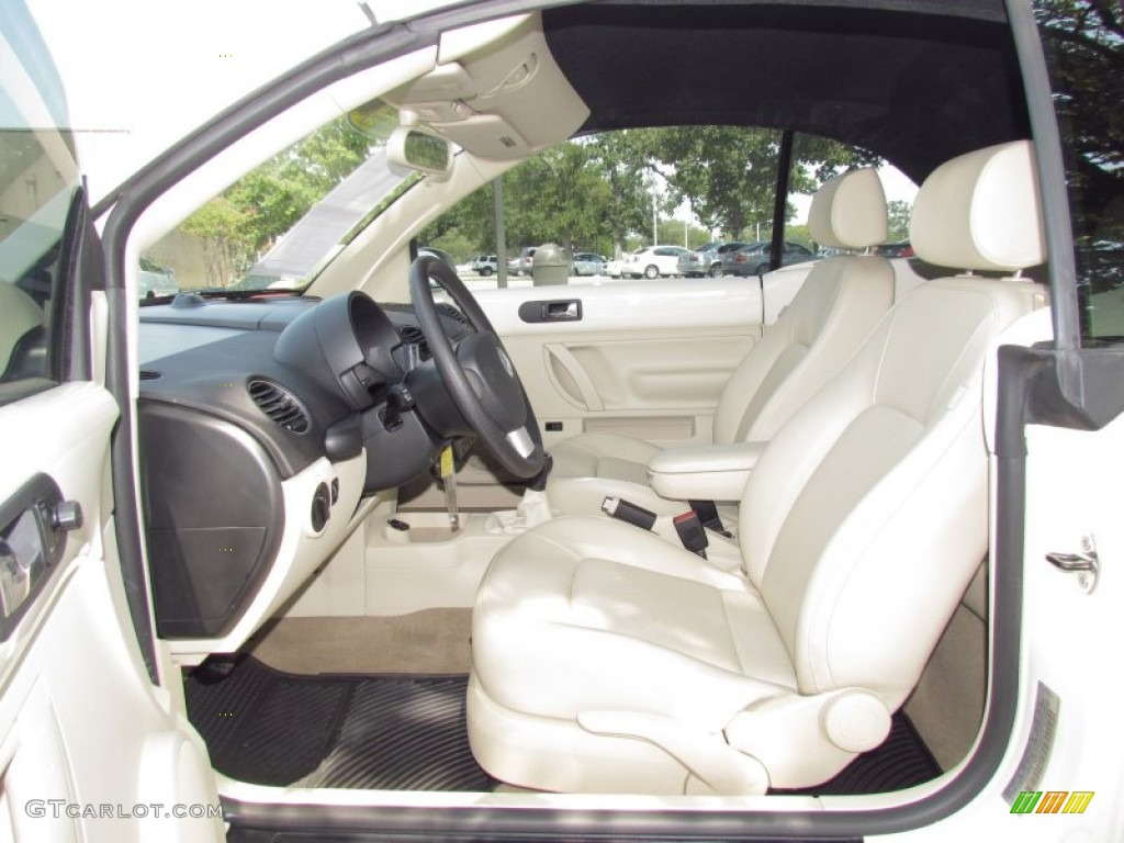 Cream Beige Interior 2008 Volkswagen New Beetle S Convertible Photo 53742942