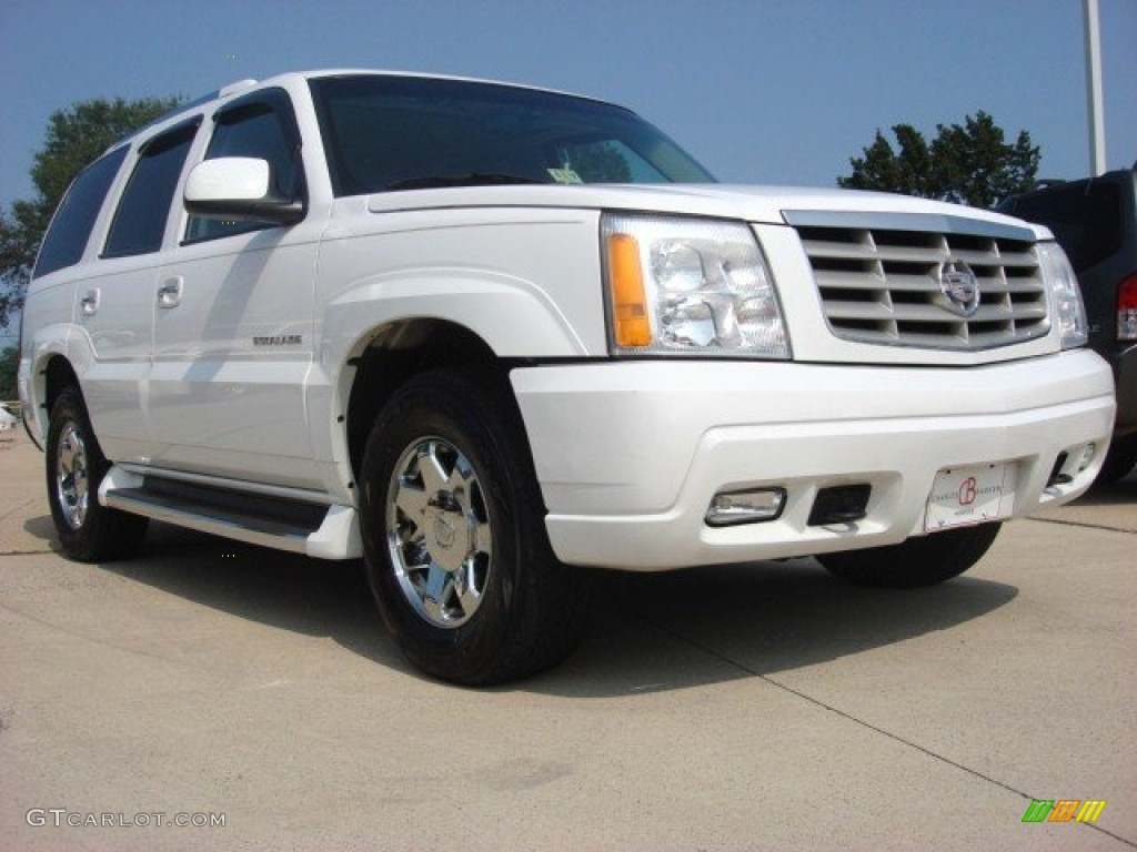 2002 escalade awd white diamond pewter photo 1
