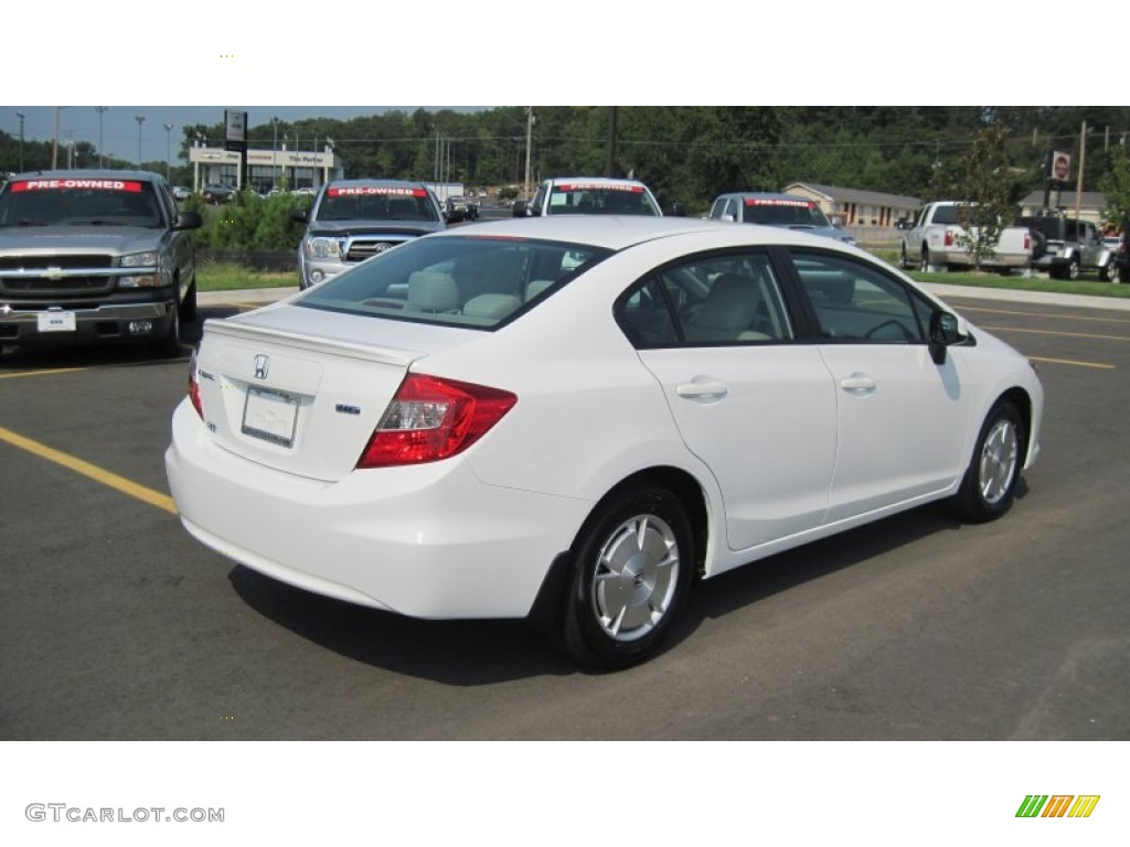 Taffeta white 2012 honda civic hf sedan exterior photo for 2012 honda civic white
