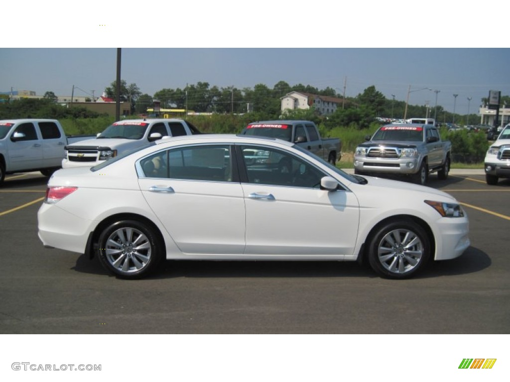 White Orchid Pearl 2012 Honda Accord EX L V6 Sedan Exterior Photo #53753685