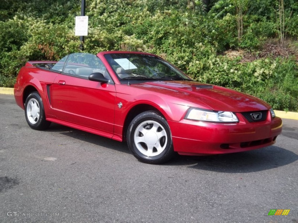 laser red metallic 1999 ford mustang v6 convertible. Black Bedroom Furniture Sets. Home Design Ideas