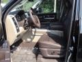 2012 Ram 3500 HD Laramie Longhorn Crew Cab 4x4 Dually Light Pebble Beige/Bark Brown Interior