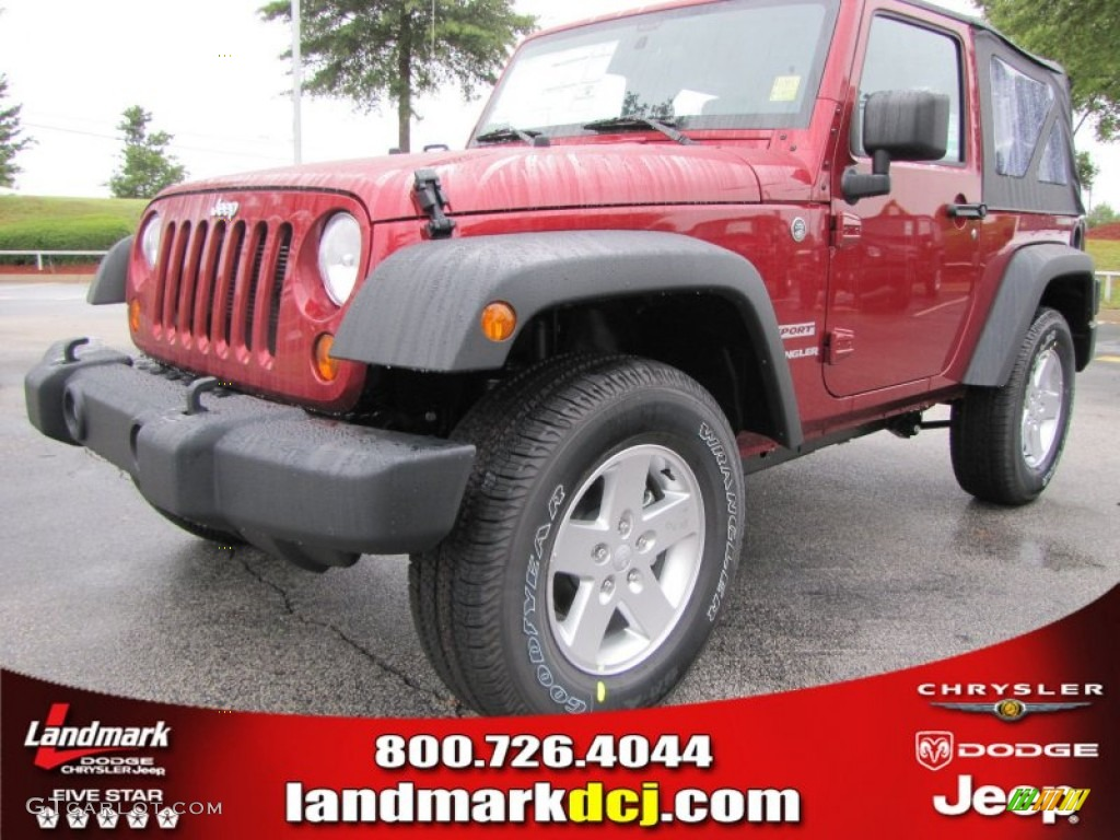 2012 Wrangler Sport S 4x4 - Deep Cherry Red Crystal Pearl / Black photo #1