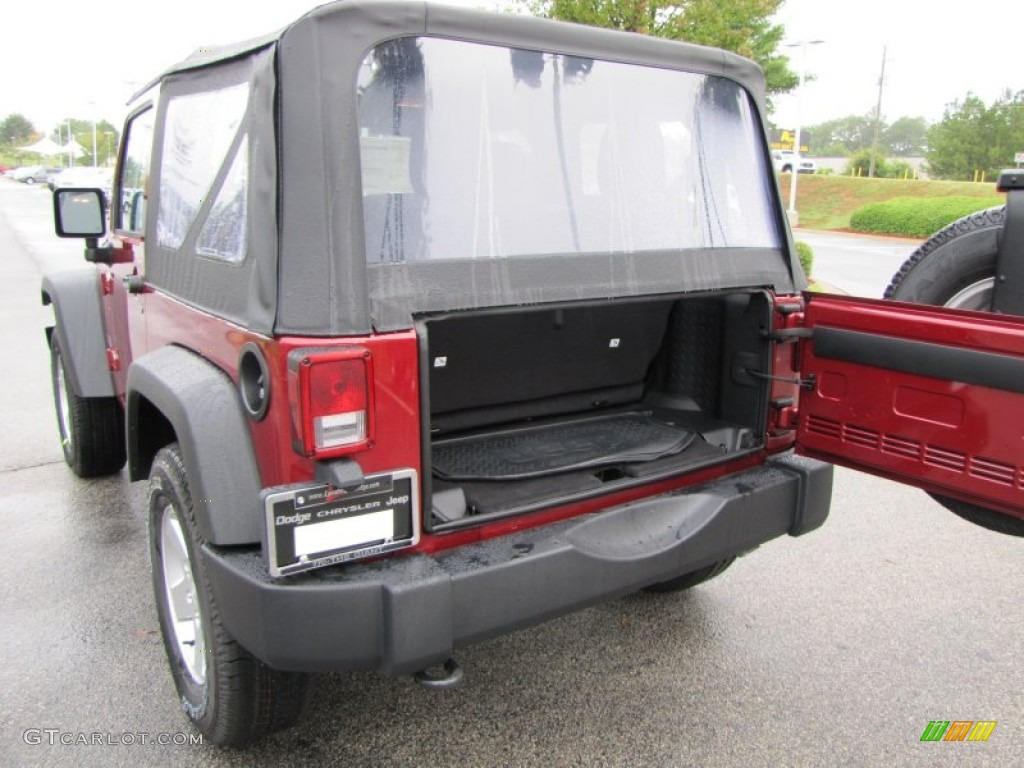 2012 Wrangler Sport S 4x4 - Deep Cherry Red Crystal Pearl / Black photo #8