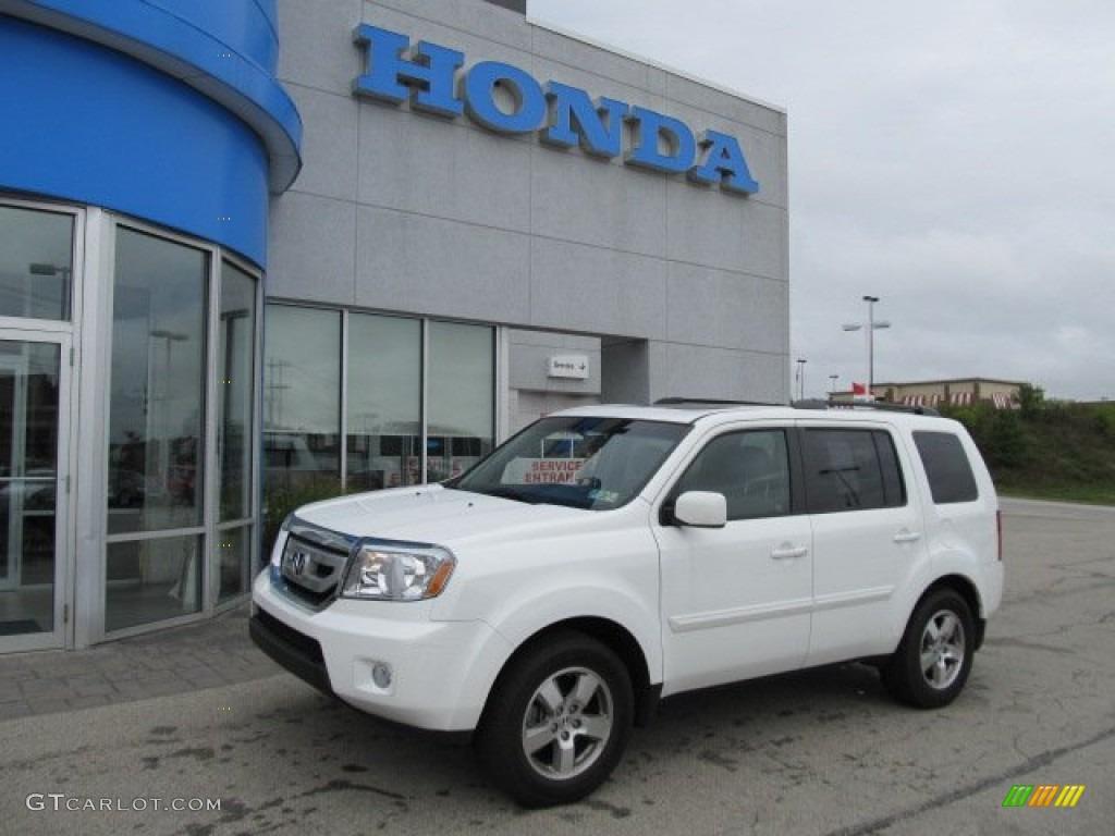 Taffeta White - 2010 Honda Pilot EX-L 4WD - Beige Interior ...   2010 Honda Pilot White