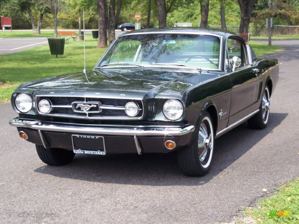 Ivy green 1965 ford mustang coupe exterior photo 53799773