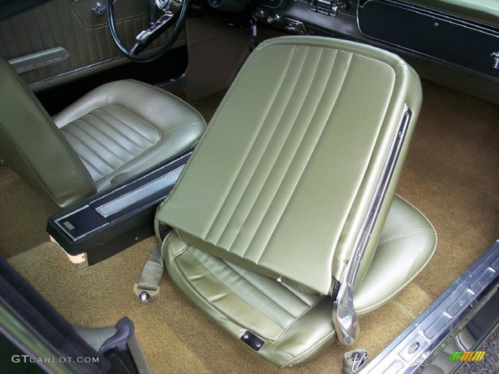 Ivy Gold Interior 1965 Ford Mustang Coupe Photo #53800303 ...