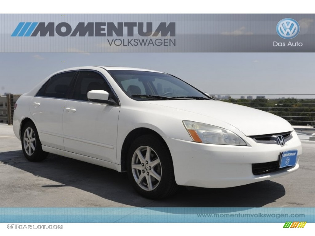 2004 Taffeta White Honda Accord Ex V6 Sedan 53811588