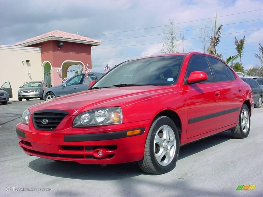 2005 rally red hyundai elantra gt sedan 5360763. Black Bedroom Furniture Sets. Home Design Ideas