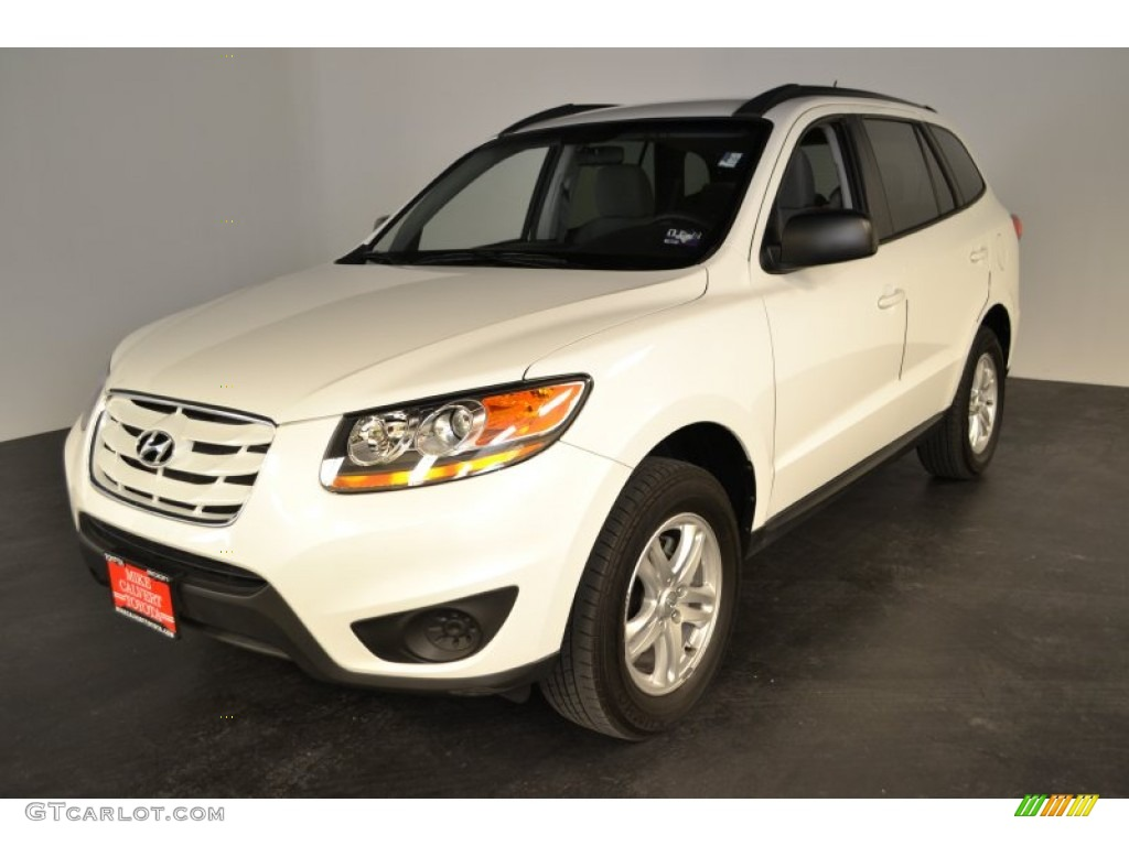 2010 pearl white hyundai santa fe gls 53811522 car color galleries. Black Bedroom Furniture Sets. Home Design Ideas