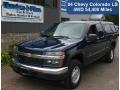 Indigo Blue Metallic 2004 Chevrolet Colorado LS Extended Cab 4x4