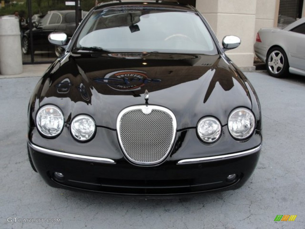 ebony black 2007 jaguar s type 3 0 exterior photo. Black Bedroom Furniture Sets. Home Design Ideas