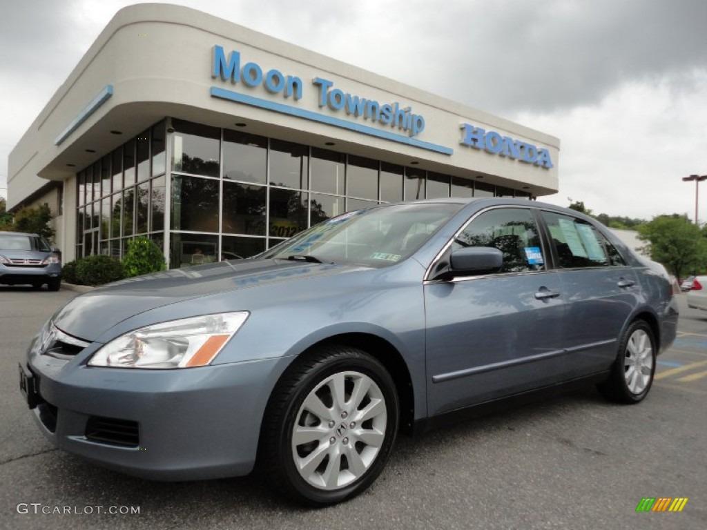 2007 cool blue metallic honda accord lx v6 sedan 53844165 for 2007 honda accord lx sedan