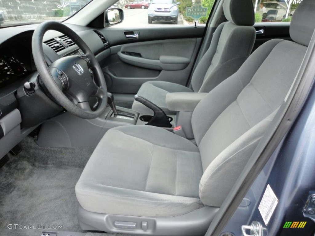 Gray Interior 2007 Honda Accord Lx V6 Sedan Photo