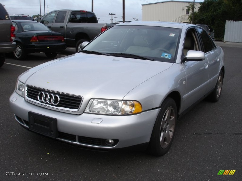 2000 light silver metallic audi a4 2 8 quattro sedan. Black Bedroom Furniture Sets. Home Design Ideas