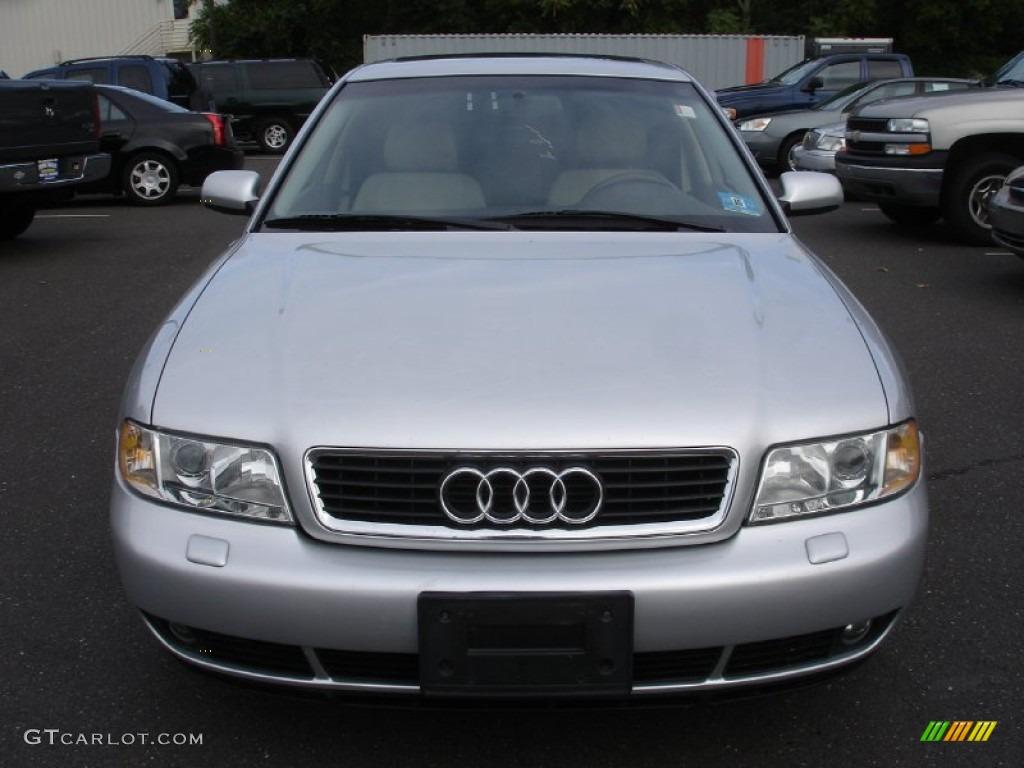 Light silver metallic 2000 audi a4 2 8 quattro sedan exterior photo