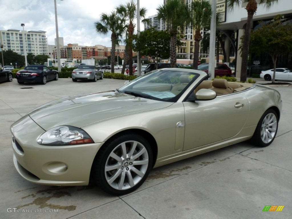 Winter Gold Metallic 2008 Jaguar Xk Xk8 Convertible