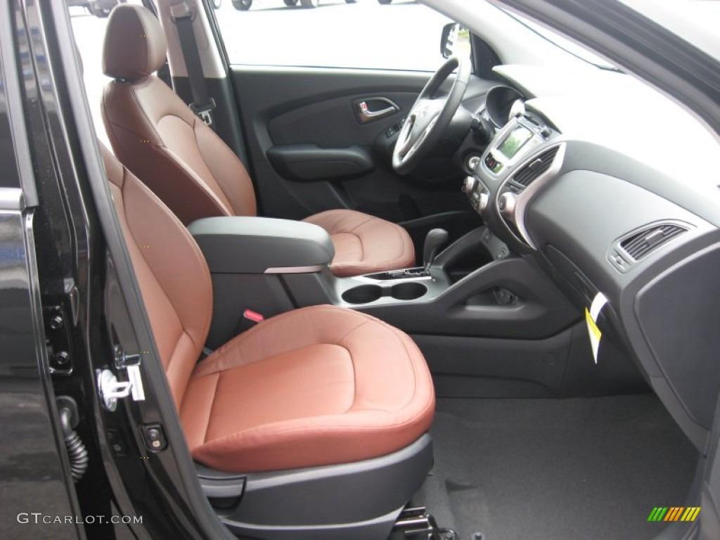 Black Saddle Interior 2012 Hyundai Tucson Limited Photo 53855319