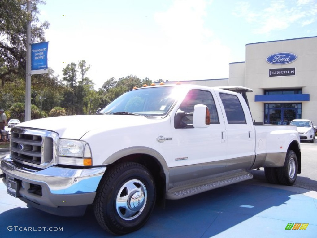 2003 oxford white ford f350 super duty king ranch crew cab dually 53857361 car. Black Bedroom Furniture Sets. Home Design Ideas