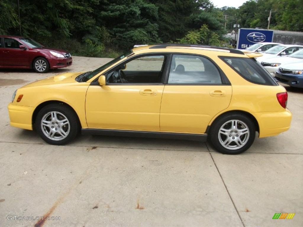 Sonic Yellow 2003 Subaru Impreza Wrx Wagon Exterior Photo