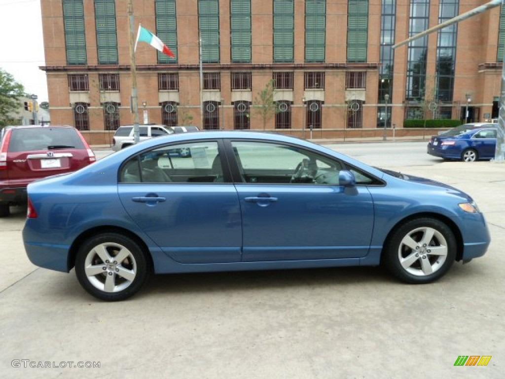 Atomic Blue Metallic 2008 Honda Civic Ex Sedan Exterior Photo 53867701