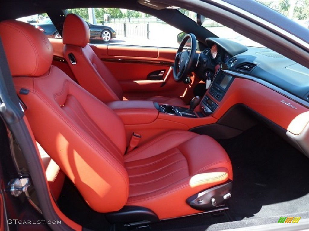 Rosso corallo red interior 2008 maserati granturismo for White maserati red interior