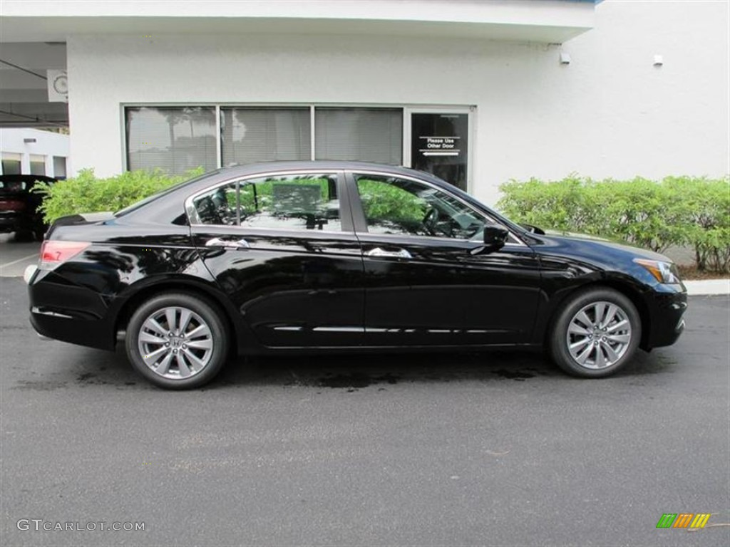 crystal black pearl 2012 honda accord ex l v6 sedan exterior photo 53882045. Black Bedroom Furniture Sets. Home Design Ideas