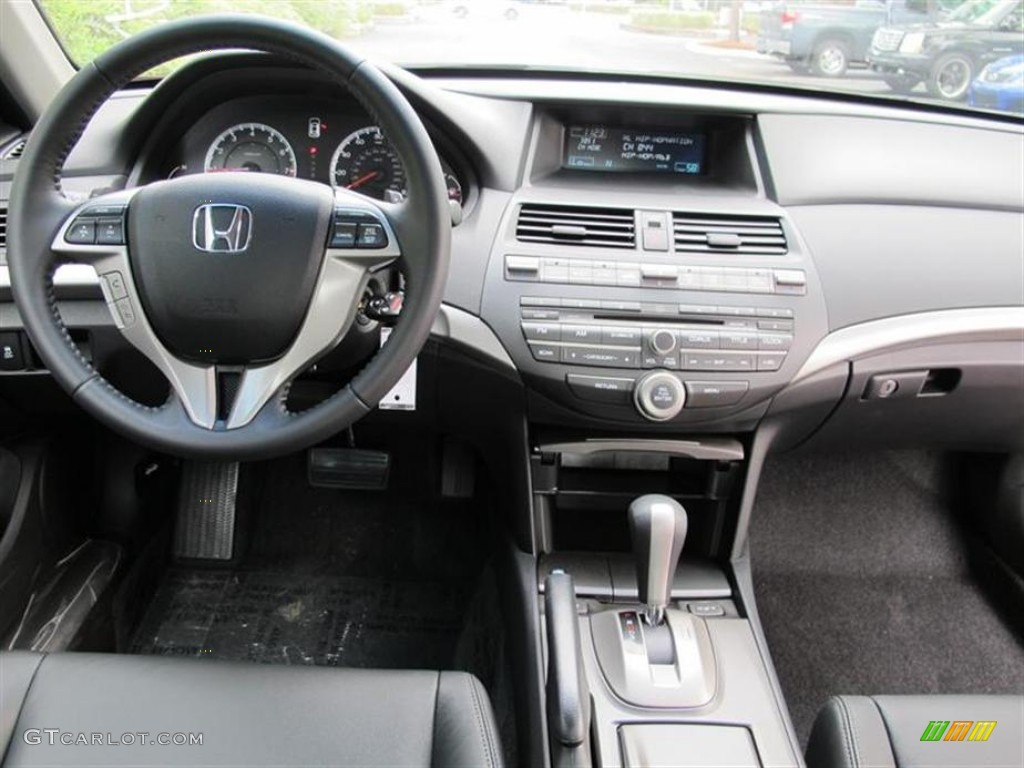 2012 Honda Accord EX L V6 Coupe Black Dashboard Photo #53882162