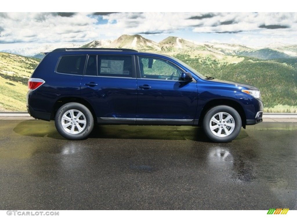 Nautical Blue Metallic 2012 Toyota Highlander Se 4wd