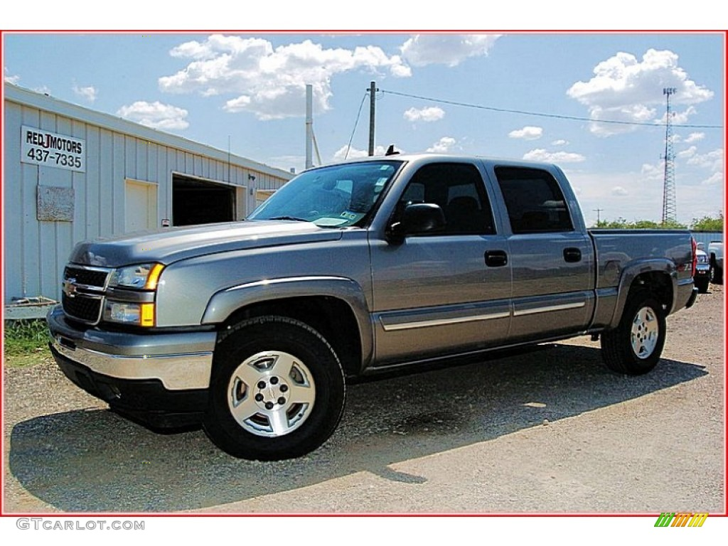 2006 Silverado 1500 Z71 Crew Cab 4x4 - Graystone Metallic / Dark Charcoal photo #1
