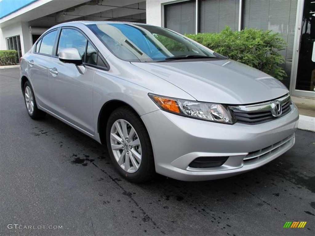 Alabaster Silver Metallic 2012 Honda Civic Ex L Sedan