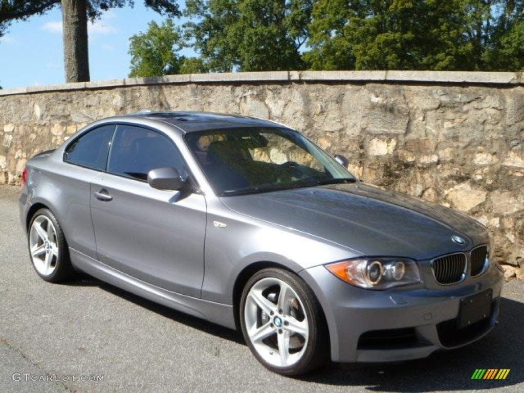 space gray metallic 2010 bmw 1 series 135i coupe exterior. Black Bedroom Furniture Sets. Home Design Ideas