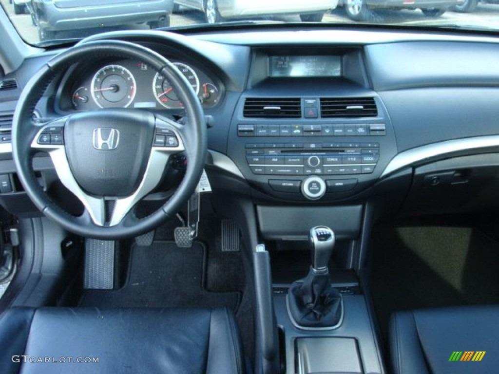 2009 Honda Accord EX L V6 Coupe Black Dashboard Photo #53933380
