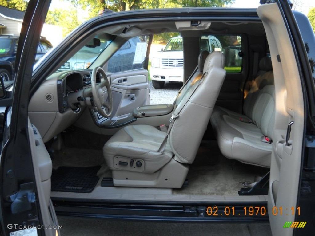 Sandstone interior 2002 gmc sierra 1500 denali extended cab 4wd photo 53946524