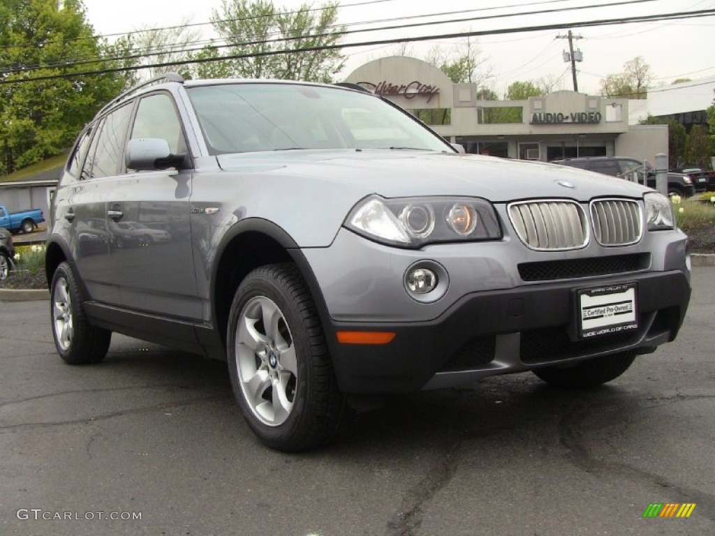 silver grey metallic 2008 bmw x3 exterior photo. Black Bedroom Furniture Sets. Home Design Ideas