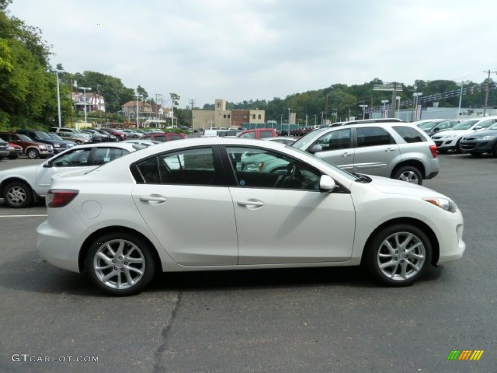 crystal white pearl mica 2012 mazda mazda3 s grand touring. Black Bedroom Furniture Sets. Home Design Ideas