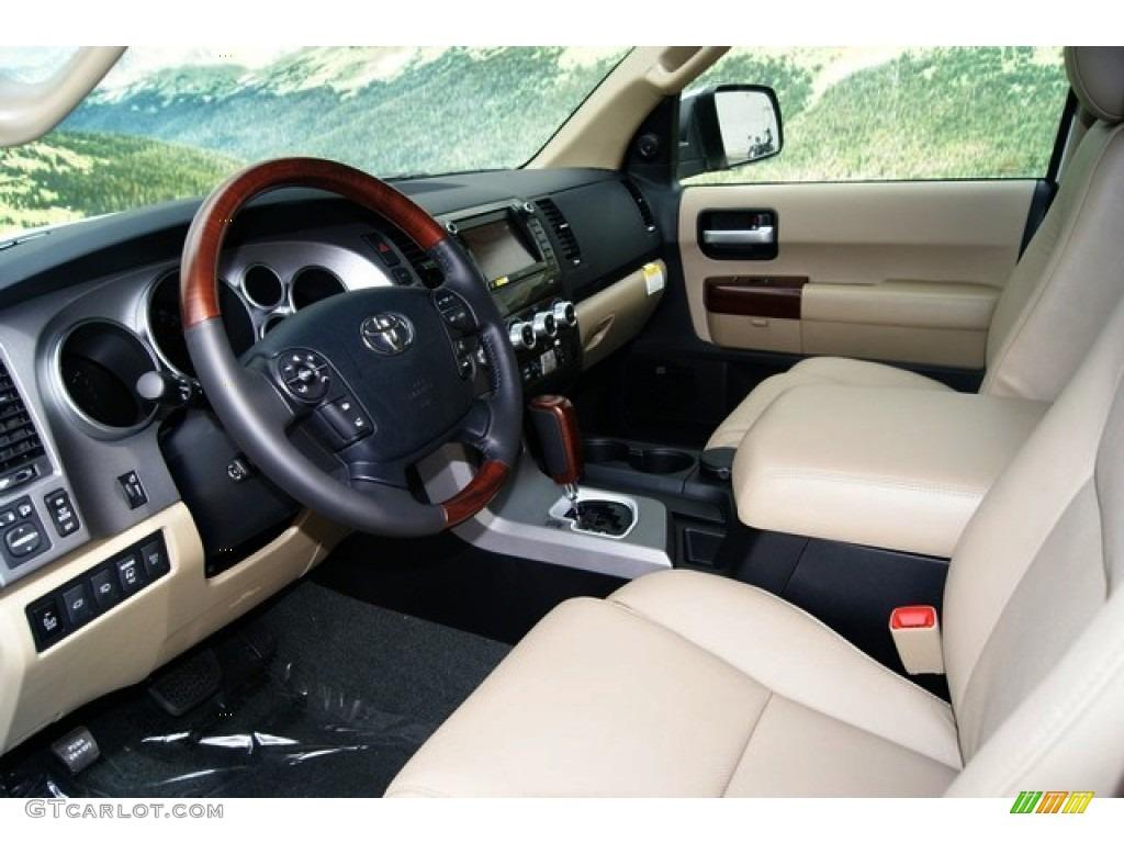 Sand Beige Interior 2012 Toyota Sequoia Platinum 4wd Photo 53970252