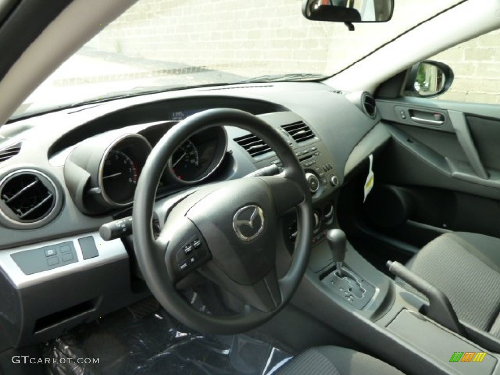 black interior 2012 mazda mazda3 i sport 4 door photo. Black Bedroom Furniture Sets. Home Design Ideas