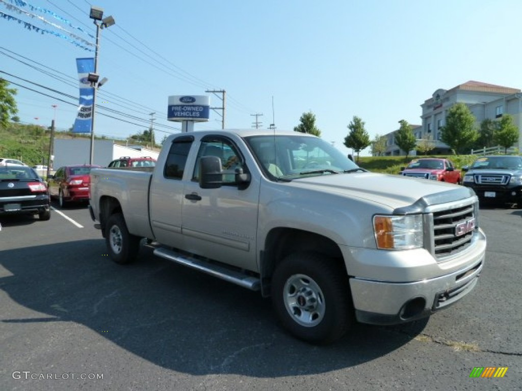 2007 Sierra 2500HD SLE Extended Cab 4x4 - Silver Birch Metallic / Dark Titanium photo #1