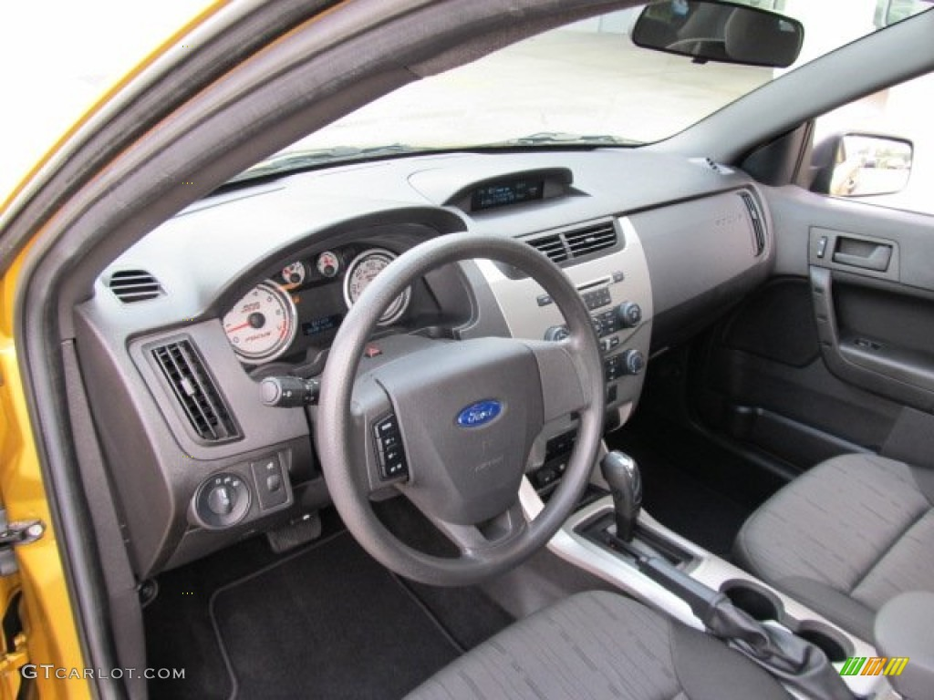 Charcoal Black Interior 2009 Ford Focus Se Sedan Photo 53974017