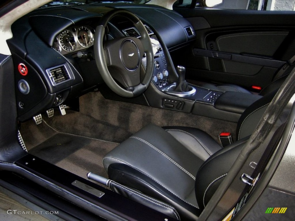 Obsidian Black Interior 2007 Aston Martin V8 Vantage Coupe Photo 53984316 Gtcarlot Com