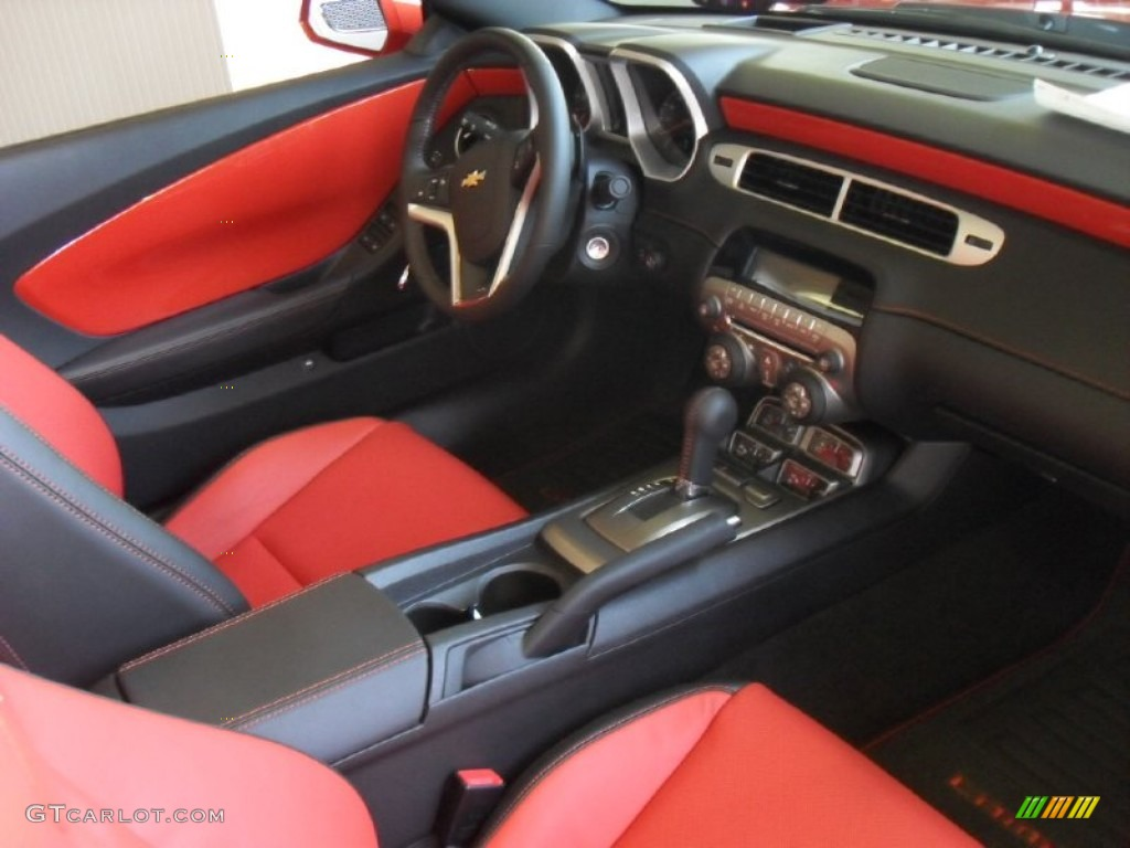 Inferno Orange Black Interior 2012 Chevrolet Camaro Ss Rs