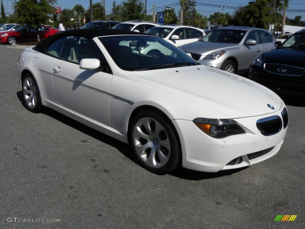 2006 Alpine White Bmw 6 Series 650i Convertible 53981321